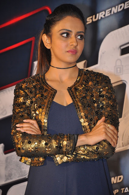 Rakul preet at dhruva trailer launch