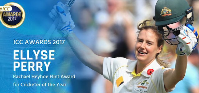 Ellyse Perry, ICC womens awards 2017, Rachael Heyhoe Flint Award, women cricketer of year.