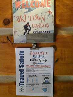 Signage for Ski Town Condos