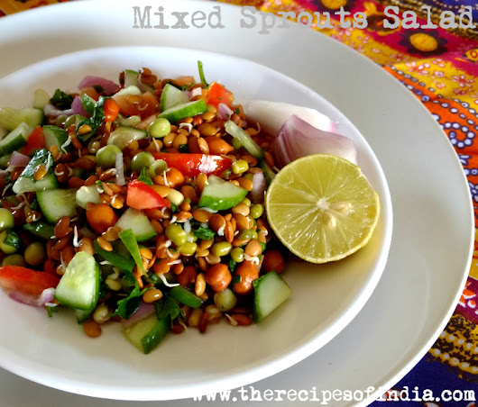 Mixed Sprouts Salad Recipe - My 10th Guest Post
