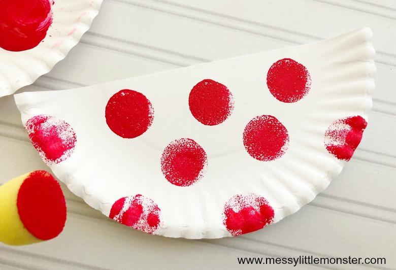 love birds paper plate craft