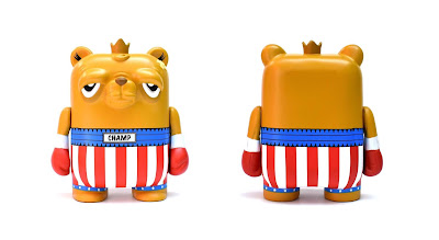 Tenacious Toys Exclusive The Bearchamp Italian Stallion Edition Vinyl Figure by JC Rivera x UVD Toys