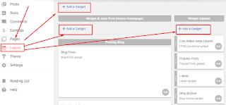 Cara Memasang Widget Baru di Blog Atau Memasang Custom Widget DI Blog Kita