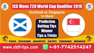 Who will win Today, ICC Mens T20 World Cup Qualifier 2019, 1st Match Sin vs Sco