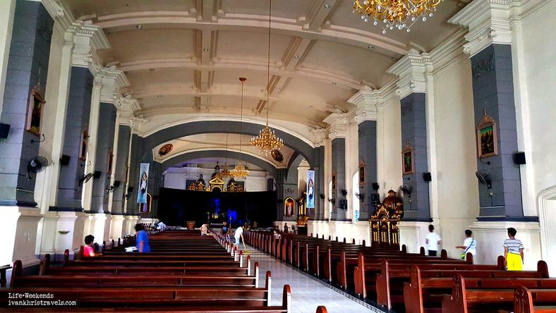 The interiors of Sta. Ana Church in Pampanga