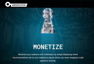 AdsKeeper, alternativa a Adsense para monetizar tu web