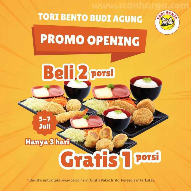 Promo Tori Bento Opening Budi Agung Bogor Beli 2 Gratis 1 Porsi