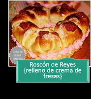 ROSCÓN DE REYES RELLENO DE CREMA DE FRESAS