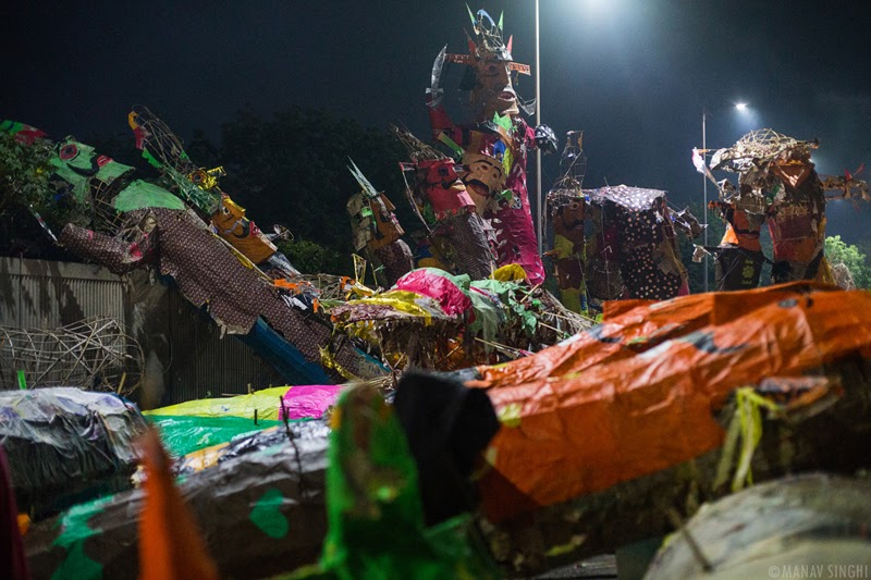 Rain Damaged Effigies of Ravan