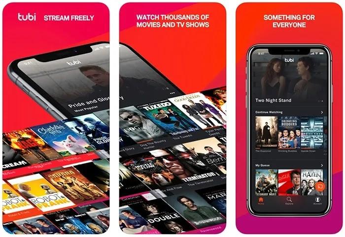 تطبيقات الأفلام المجانية Iphone Tubi
