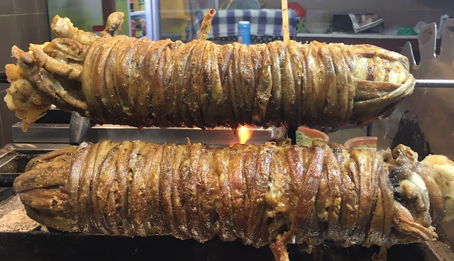 Street food: Kokorec (Lamb Intestines)
