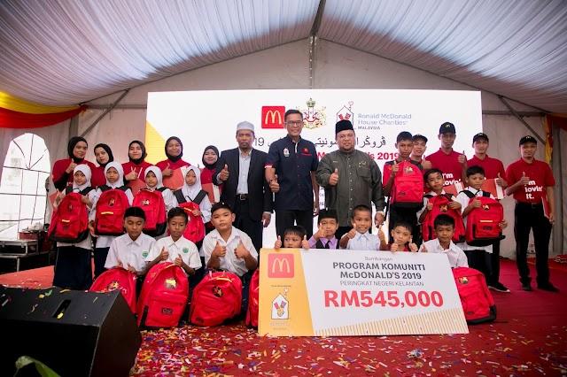 LEBIH RM 540,000 UNTUK RAKYAT KELANTAN DARIPADA McDONALD'S MALAYSIA