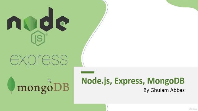 Build RESTful APIs in Node.js using Express & MongoDB