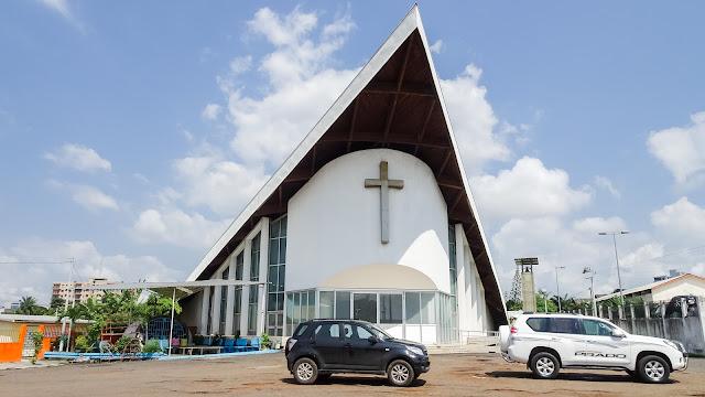 Cathédrale Saint Pierre in Gabon is like an arrow