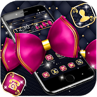 Golden Pink Bowknot Launcher Theme Apk for Android