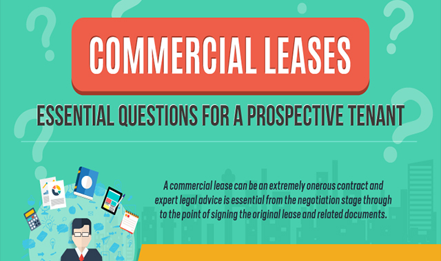 Commercial Leases: Essential Questions For A Prospective Tenant #infographic