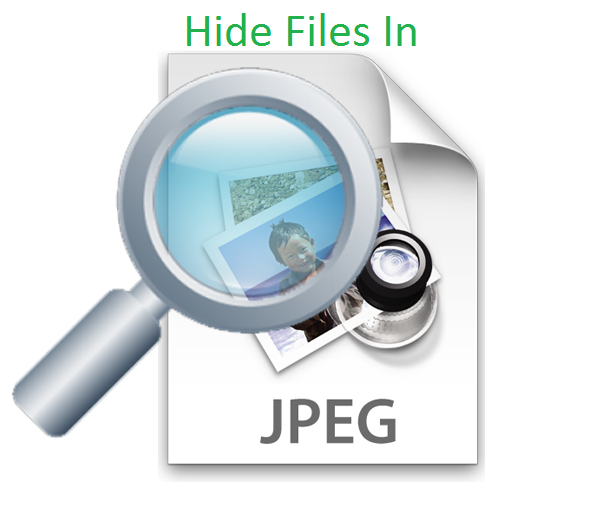 Hide Files In JPG