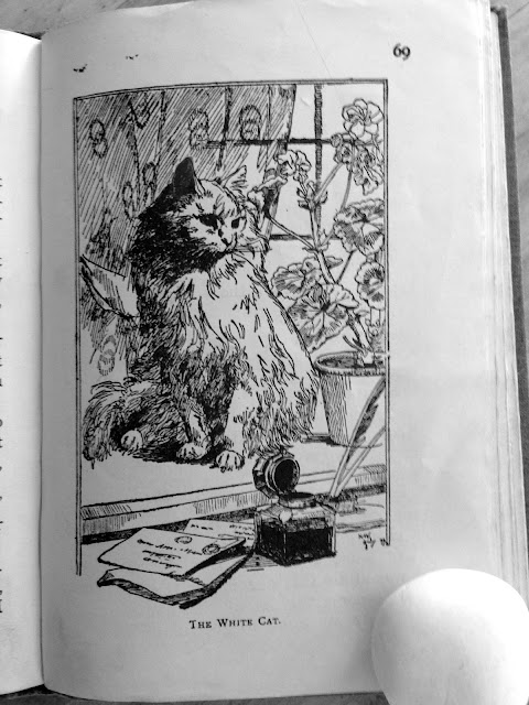 "Learning to Read: ""The White Cat"" (c. 1903?) Jealousy! Deceit! All the cream!"