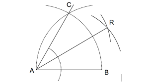 Menggambarkan sudut lancip dengan besar 30°