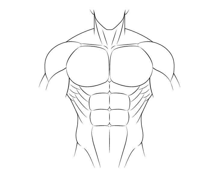 Anime gambar tubuh laki-laki berotot