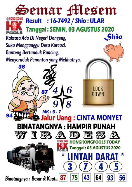 Syair Semar Mesem HK 3 Agustus