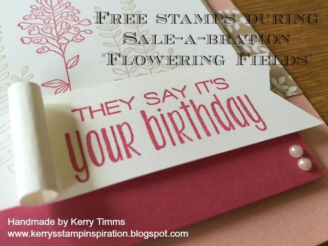 Stampin spiration: Flowering Fields