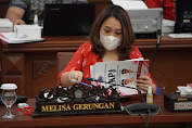 Melisa Gerungan Dampingi Ketua dan Wakil Ketua Bapemperda Kunjungi Bank Sampah di Minut