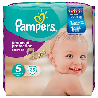 Pampers pack offering 1pack-1vaccine offer