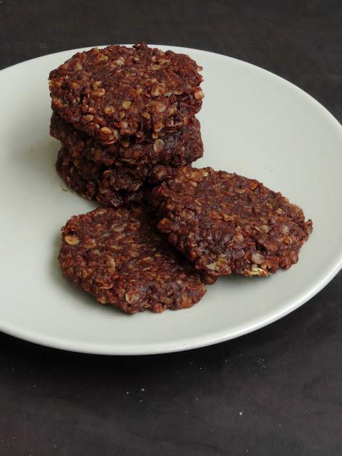 No Bake Oats Choco Cookies