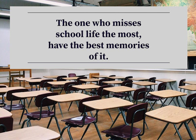 Quotes about school life