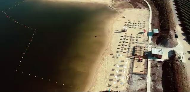 Vista aérea Praia dos Cinco reis
