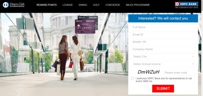 HDFC Bank Diners Club Black Credit Card Online Apply
