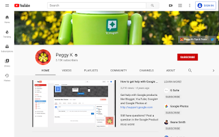 PeggyK YouTube channel home