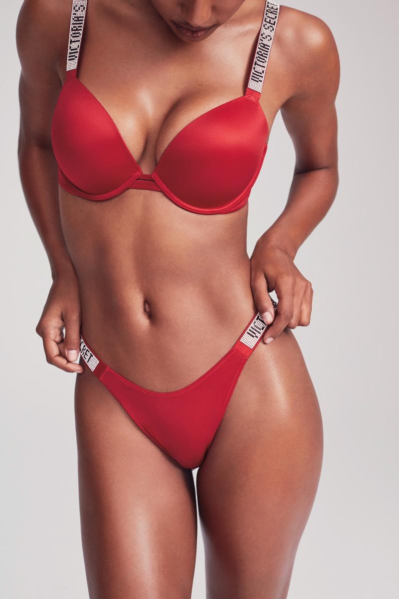 Victoria's Secret Very Sexy Push-up Bra & Shine Strap Thong