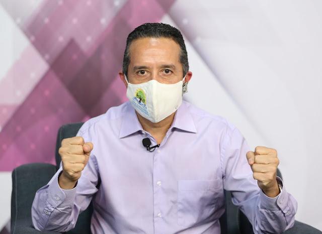 Decreta el gobernador el uso obligatorio del cubrebocas en Quintana Roo