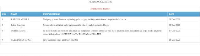 feedback listing UP MKSY