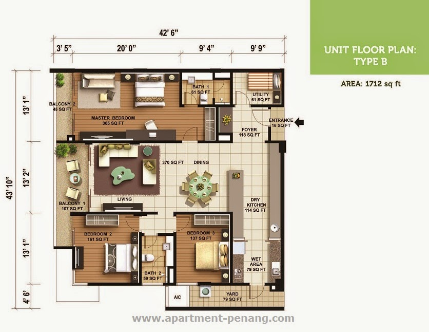 Olive Tree Residences Apartment Penang Com