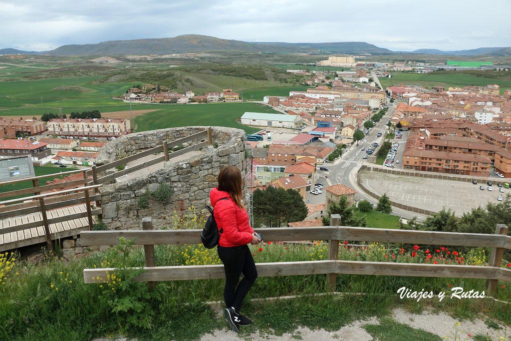 Vistas del Castillo de Aguilar de Campoo
