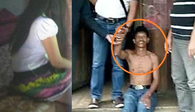 Pelaku Pemerkosaan Anak Kandung di Batukliang Saat diciduk petugas
