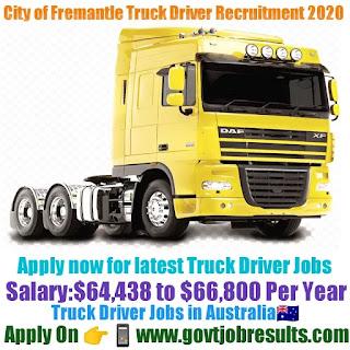 City of Fremantle Truck Driver Recruitment 2020-21