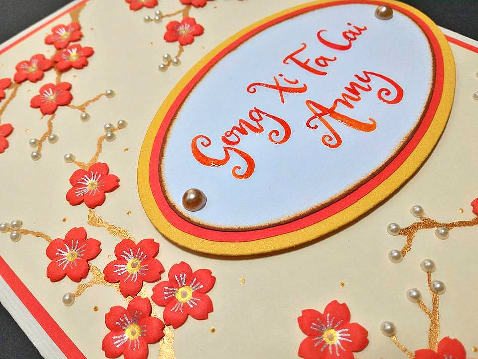 Gong xi fa cai pop up flowers card m4hsunfo