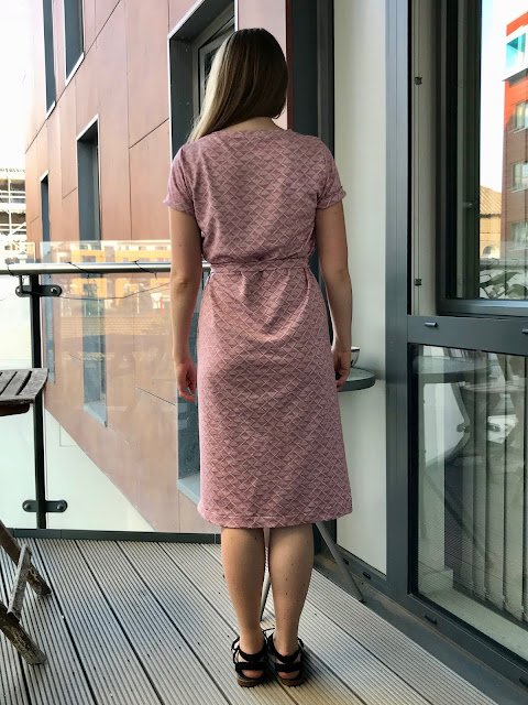 Diary of a Chain Stitcher: Named Inari Tee Dress in Pink Textured Ponte Knit from Sew Over It