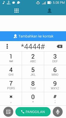 Ketik *4444# di Telepon