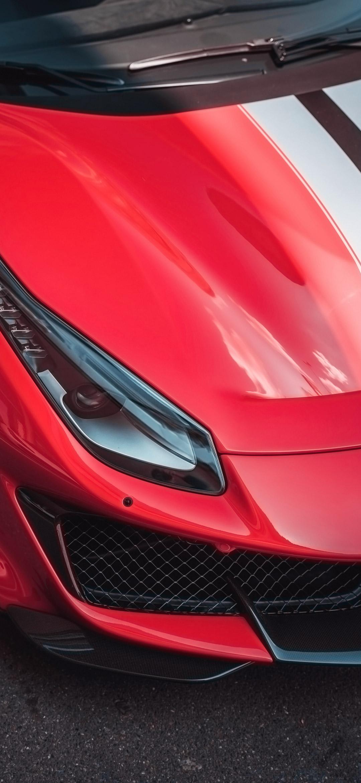 خلفية مقدمة سيارة فيراري حمراء رياضية
