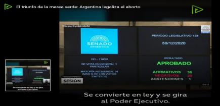 El Senado de Argentina legaliza el aborto: histórico triunfo feminista