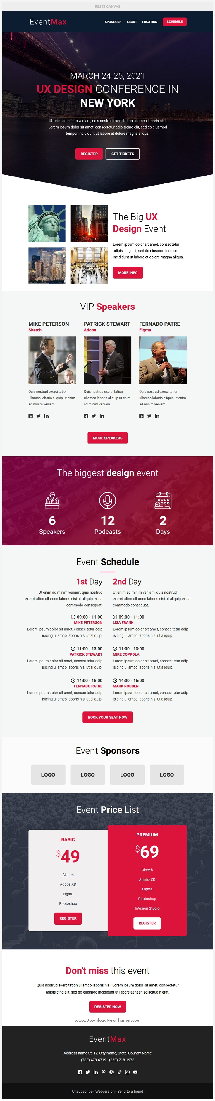 Responsive Email for Events and Conferences Template