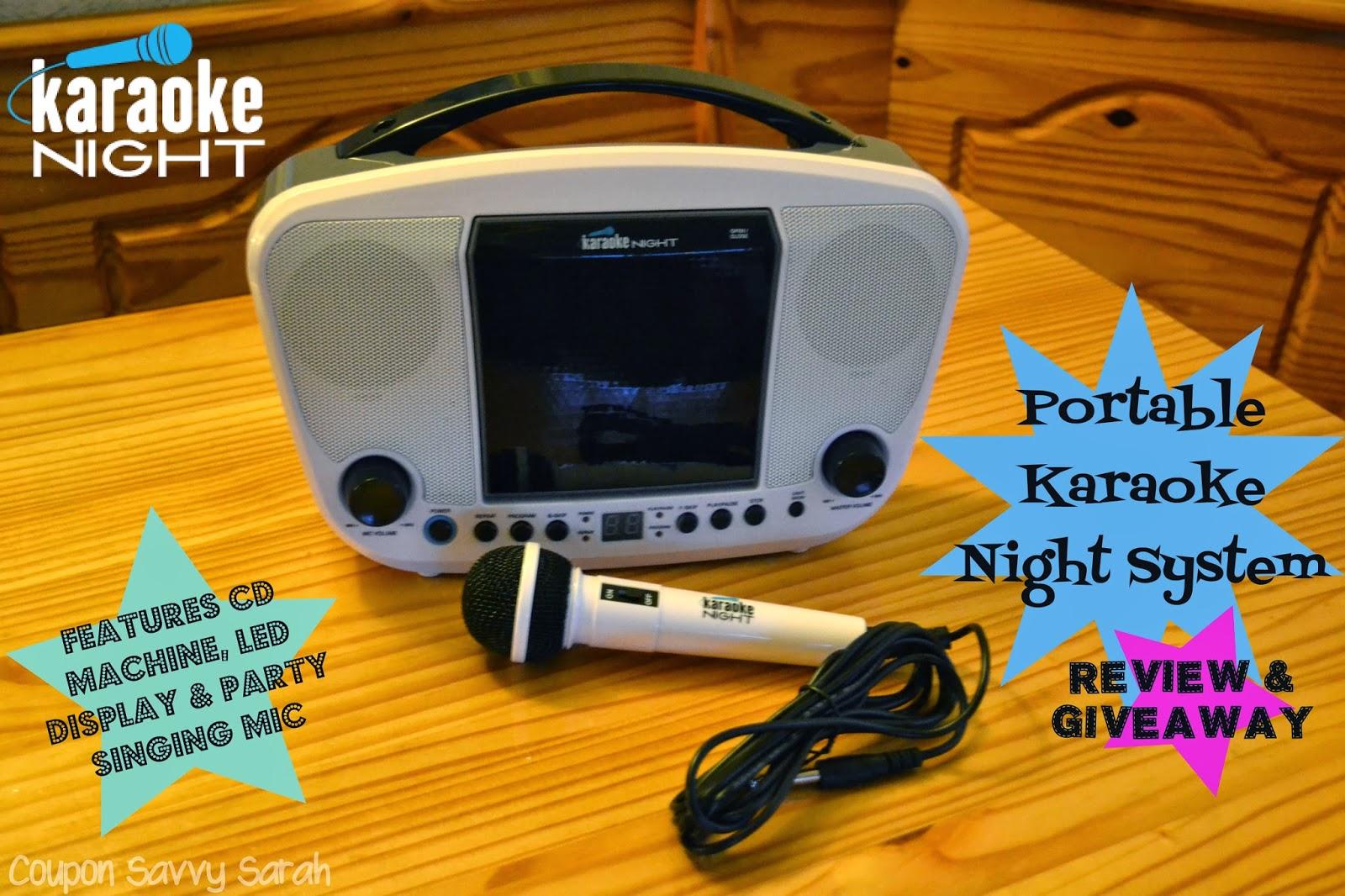 Coupon Savvy Sarah: Review AND Giveaway: Portable Karaoke