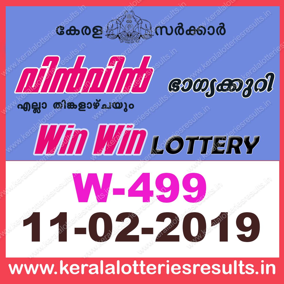 Kerala Lottery Results 15 02 2019 Nirmal NR-108 Result Today