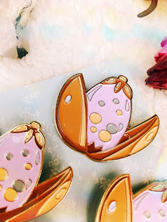 Bookworm Candles and Crafts: Mermaid Egg Enamel Pin