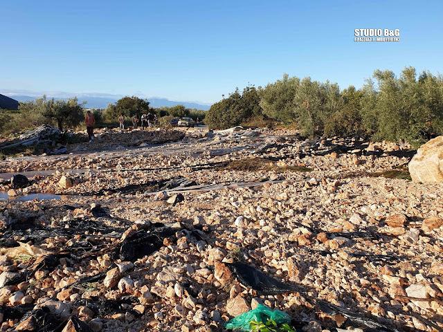 Εικόνες καταστροφής στο δρόμο Ίρια - Καρναζέικα στην Αργολίδα